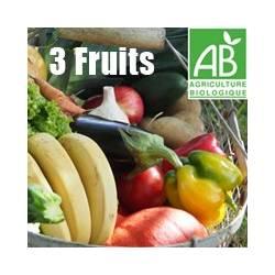 Panier de saison avec 3 fruits